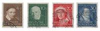 Tyskland 1951 - Michel 143-146 / AFA 1106-1109 - Stemplet