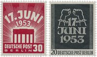 Berlin 1953 - Michel 110-111 - Postfrisk