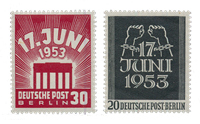 Berliini 1953 - Michel 110-111 - Postituore