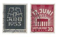 Berlin 1953 - Michel 110-111 - Oblitéré