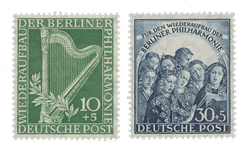 Berliini 1950 - Michel 72-73 - Postituore