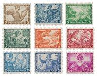 Tyske Rige 1933 - Michel 499-507 / AFA 494-502 - Ubrugt