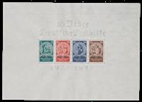 Tyske Rige 1933 - Michel miniark 2 / AFA miniark 503-506 - Ubrugt