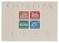 Tyske Rige 1935 - Michel miniark 3 / AFA miniark 571-574 - Ubrugt