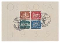 Tyske Rige 1935 - Michel miniark 3 / AFA miniark 571-574 - Stemplet