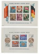 République Démocratique Allemande 1953 - Michel bloc8A-9A - Oblitéré
