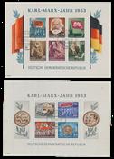 République Démocratique Allemande 1953 - Michel Block8A-9A - Oblitéré