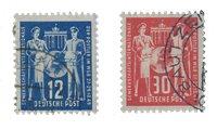 République Démocratique Allemande 1949 - Michel 243-244 - Oblitéré