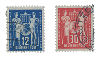 DDR 1949 - Michel 243-244 - Stemplet