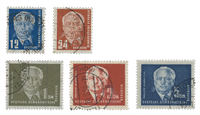 DDR 1950 - Michel 251-255 - Stemplet