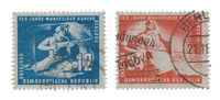 DDR 1950 - Michel 273-274 - Stemplet