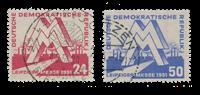 République Démocratique Allemande 1951 - Michel 282-283 - Oblitéré