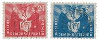 République Démocratique Allemande 1951 - Michel 284-285 - Oblitéré
