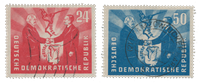 DDR 1951 - Michel 284-285 - Stemplet