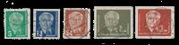 République Démocratique Allemande 1952 - Michel 322-326 - Oblitéré