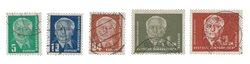 DDR 1952 - Michel 322-326 / AFA 154+157-158+90x-91x - Stemplet