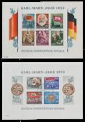République Démocratique Allemande 1953 - Michel Block8B-9B - Oblitéré