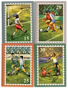 Clasificador de fútbol diseñado con 50 sellos de fútbol