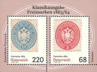 Austria 2018 - Francobolli classici: 1863/1864 - foglietto nuovo