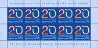Ungarn - 20 år grænseåbning - Postfrisk 10-ark