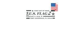 Etats-Unis - Timbre courant 2018, drapeau - Env.premier jour