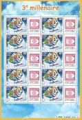 Frankrig - P-frimærke-ark med Hafnia 01-vignet