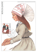 Estland 2002 - Maksimal kort - LAPE nr. 34 - Nationale kostumer