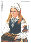 Estland 2002 - Maksimal kort - LAPE nr. 35 - Nationale kostumer