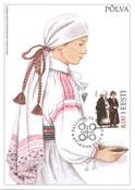 Estland 1999 - Maksimal kort - LAPE nr. 28 - Nationale kostumer