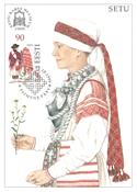 Estland 1999 - Maksimal kort - LAPE nr. 25 - Nationale kostumer