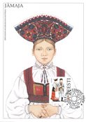 Estland 1994 - Maksimal kort - LAPE nr. 8 - Nationale kostumer