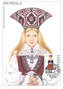 Estland 1994 - Maksimal kort - LAPE nr. 9 - Nationale kostumer
