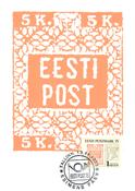 Estland 1993 - Maksimal kort - LAPE nr. 1 - Estland frimærker 75 år