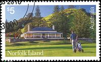 Îles Norfolk - Golf - Timbre oblitéré