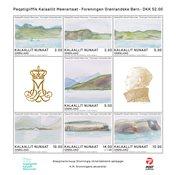 Grønland - Dronningens akvareller - Postfrisk miniark