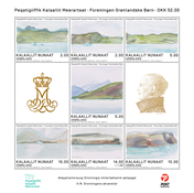 Groenland - Les aquarelles de la Reines du Danemark - Bloc-feuillet neuf