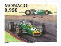 Monaco - Formule 1, voiture Lotus 49 - Timbre neuf