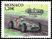 Monaco - Voiture Mercedes Benz W196 - Timbre neuf