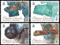 Pitcairn Øerne - Det gode skib Bountys juveler - Postfrisk sæt 4v
