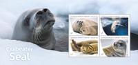 Australsk Antarktis - Krillsælen - Postfrisk miniark