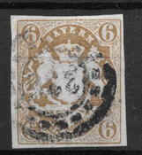 Bayern 1867 - AFA 180 - Cancelled