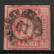 Bayern 1861 - AFA 14 - Cancelled