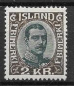 Islanti 1920 - AFA 97 - Käyttämätön liimakkeella