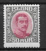 Islanti 1920 - AFA 95 - Postituore