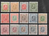 Islanti 1907 - AFA 48-62 - Postituore