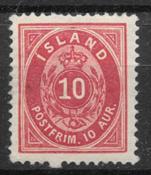 Islanti 1875 - AFA 8 - Käyttämätön liimakkeella