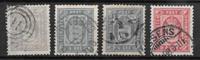Dinamarca 1875 - Tj. 4 + 5 + 5a + 6 - Usado
