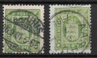 Denmark 1875 - Tj. 7 + 7a - Cancelled