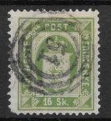 Denmark 1871 - Tj. AFA 3 - Cancelled