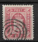 Denmark 1871 - Tj. AFA 2 - Cancelled